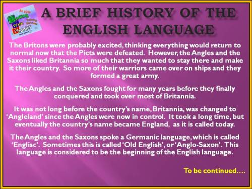 A Brief history of the english language6