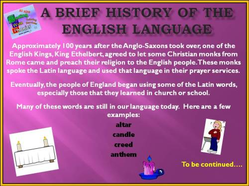 A Brief history of the english language8