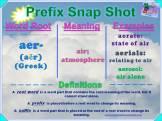 aer- Prefix Snap Shot