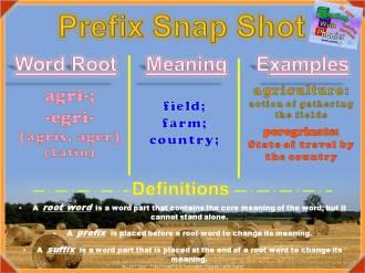 agri-, egri- Prefix Snap Shot