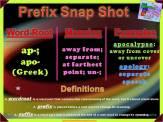 ap-, apo- Prefix Snap Shot