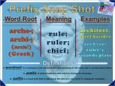 arche-, archi- Prefix Snap Shot