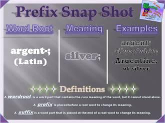 argent- Prefix Snap Shot