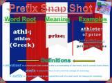 athl- Prefix Snap Shot
